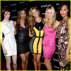 Nina Agdal, Ciara, & Katrina Bowden: bebe Campaign Launch!