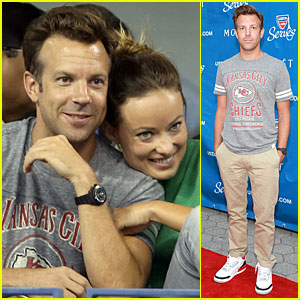 Olivia Wilde & Jason Sudeikis: U.S. Open First Round Spectators!