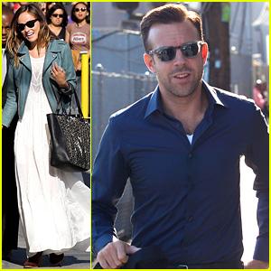 Olivia Wilde Supports Jason Sudeikis at 'Jimmy Kimmel Live'