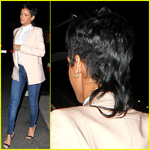 Rihanna Rocks Mullet Hairstyle for Giorgio Baldi Dinner
