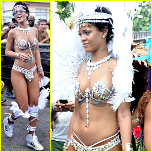 Rihanna Wears Next to Nothing for Barbados' Kadooment Day!