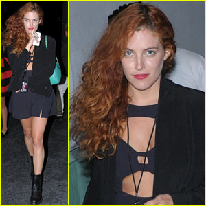 Riley Keough Wears Cutout Dress for Joan Jett Concert