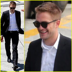 Robert Pattinson All Smiles on Set After Security Guard Scuffle