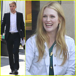 Robert Pattinson Films 'Maps to the Stars' with Julianne Moore