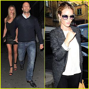 Rosie Huntington-Whiteley & Jason Statham: Dressed Up Pair!