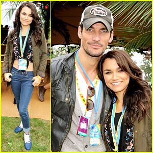 Samantha Barks & David Gandy: V Festival Couple!