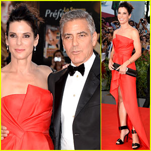 Sandra Bullock & George Clooney: 'Gravity' Venice Film Festival Premiere!