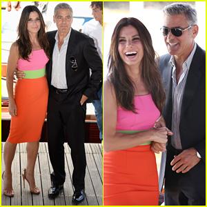 Sandra Bullock & George Clooney: 'Gravity' Venice Photo Call!