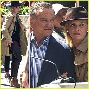 Sarah Michelle Gellar & Robin Williams Film 'Crazy Ones' in L.A.