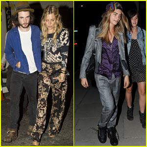 Sienna Miller & Cara Delevingne: Party Ladies in London!