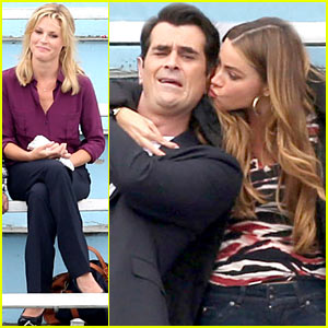 Sofia Vergara Smooches Ty Burrell for 'Modern Family'!
