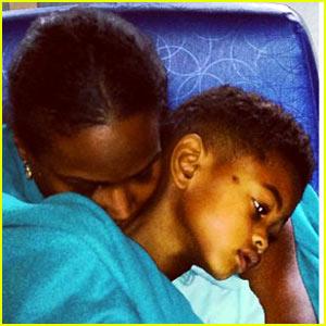 Tameka Foster Shares Usher V Hospital Pic After Pool Accident