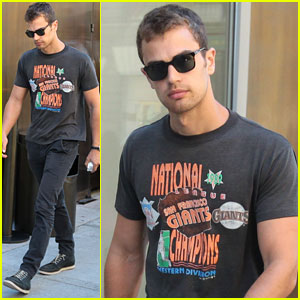 Theo James: Pre-VMAs Outing in NYC
