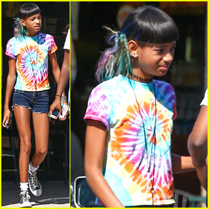 Willow Smith Matches Tie-Dyed Hair to Tie-Dyed Shirt!