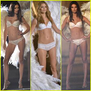 Adriana Lima & Behati Prinsloo Film Victoria's Secret Holiday Ad!