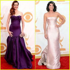 Alyson Hannigan & Cobie Smulders - Emmys 2013 Red Carpet