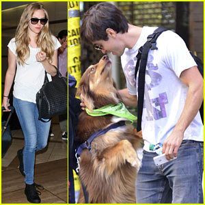 Amanda Seyfried's Dog Finn Plants a Kiss on Justin Long!