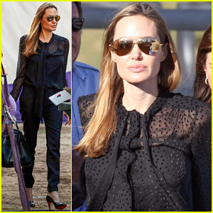 Angelina Jolie: Circus Fun with the Kids!