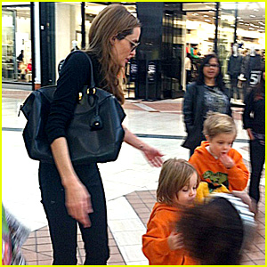 Angelina Jolie Goes Shopping with Zahara, Knox, & Vivienne!