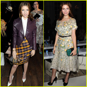 Anna Kendrick: Temperley London & Vivienne Westwood Shows