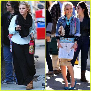 AnnaSophia Robb: 'Gorgeous Fall Day' on 'Carrie Diaries' Set!