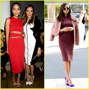 Ashley Madekwe & Katie Cassidy: Cushnie et Ochs at NYFW!
