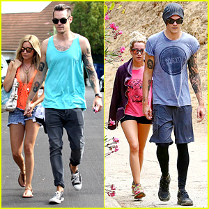 Ashley Tisdale: Labor Day Party with Christopher French!