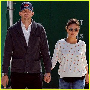 Mila Kunis & Ashton Kutcher Hold Hands in the Big Apple