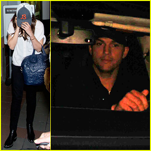 Ashton Kutcher Picks Up Mila Kunis at LAX Airport!