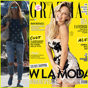 Bar Refaeli Covers 'Grazia' Magazine's Latest Issue!