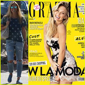 Bar Refaeli Covers 'Grazia' Magazine's Latest Issue!