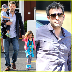 Ben Affleck Plays Mr. Mom While Jennifer Garner Works