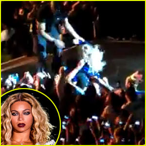 Beyonce Pulled Off Stage By Fan During Concert - Watch Now