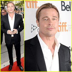 Brad Pitt: '12 Years A Slave' Premiere at Toronto Film Festival!