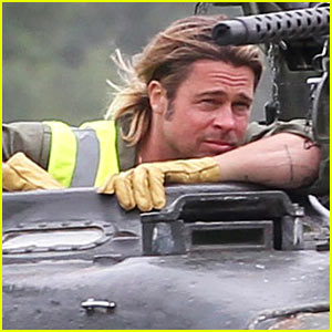 Brad Pitt Films 'Fury' in English Countryside!