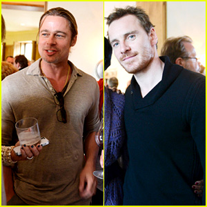 Brad Pitt & Michael Fassbender: AMPAS Party in Telluride!