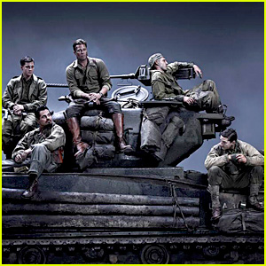Brad Pitt & Shia LaBeouf: 'Fury' First Set Photos!
