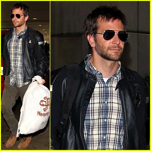 Bradley Cooper Lands Back Home After Press Tour in Spain