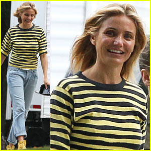 Cameron Diaz Smiles for 'Sex Tape' with Jason Segal