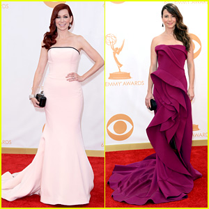 Carrie Preston & Linda Cardellini - Emmys 2013 Red Carpet