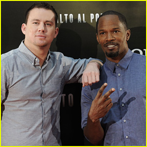 Channing Tatum & Jamie Foxx: 'White House Down' Madrid Photo Call