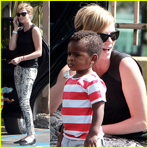 Charlize Theron Grabs Coffee with Her Little Man Jackson