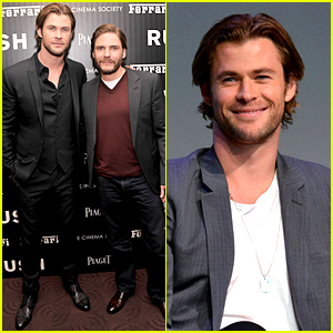 Chris Hemsworth & Daniel Bruhl: 'Rush' New York Screening!