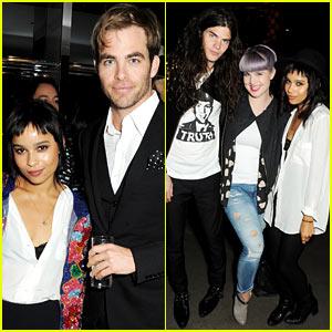 Chris Pine & Zoe Kravitz: London Fashion Week Events!