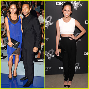 Chrissy Teigen & John Legend: Vera Wang & Badgley Mischka Fashion Shows!