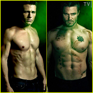 Colton Haynes & Stephen Amell: Shirtless for 'Arrow' Posters!