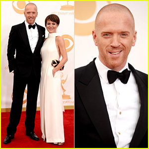 Damian Lewis: Emmys 2013 Red Carpet with Helen McCrory!