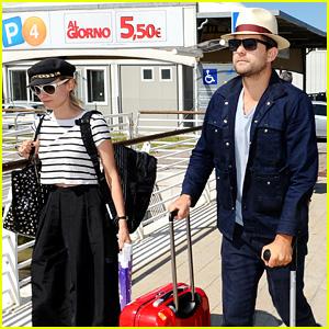 Diane Kruger & Joshua Jackson Arrive for Venice Film Festival
