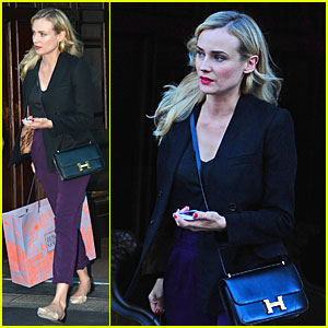 Diane Kruger Rocks Purple Pants After 'The Bridge' Renewed!