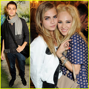 Douglas Booth & Cara Delevingne: Mulberry Fashion Show